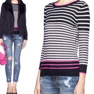 J. Crew Merino Wool Zig Zag Stripe Sweater sz XL